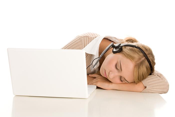 Sleeping telephone operator